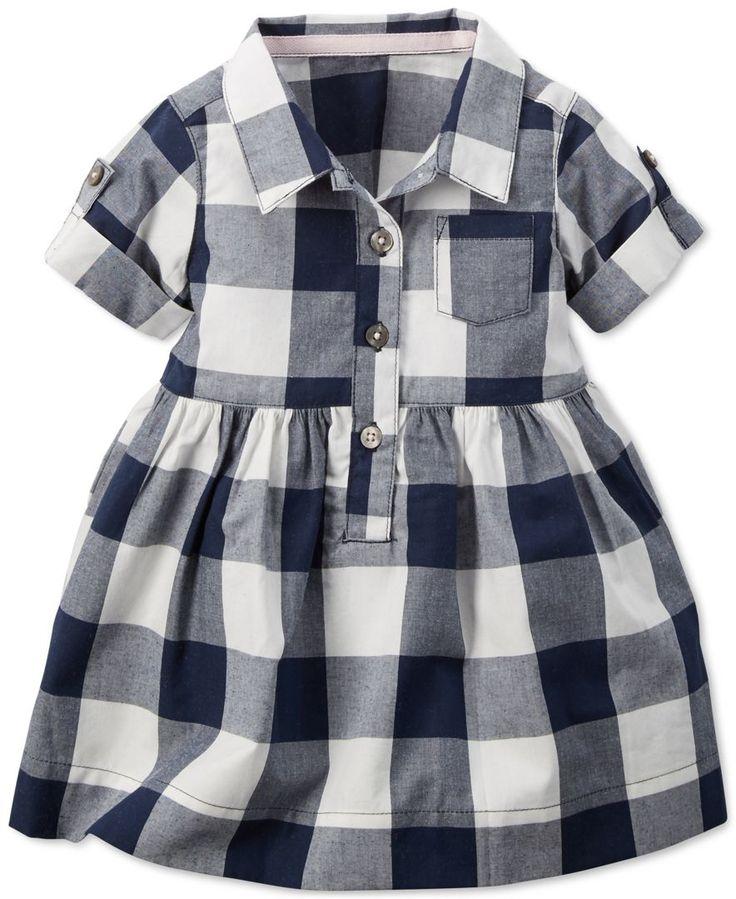 Carter's Baby Girls' Checkered Shirt Dress