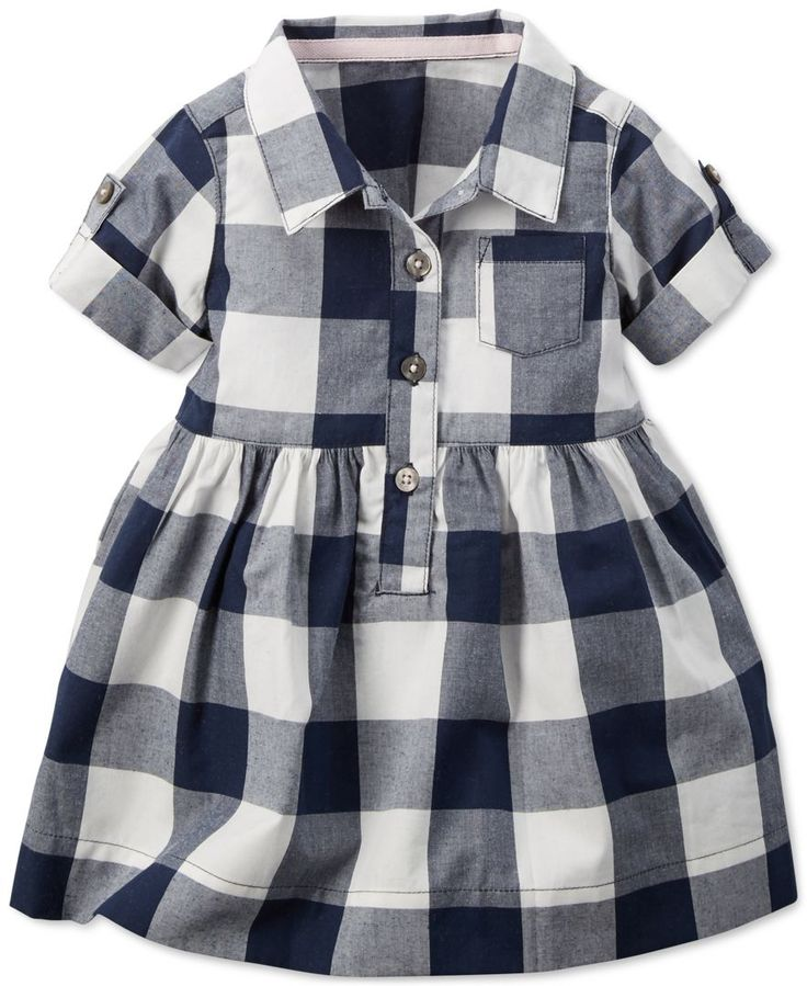 Carter's Baby Girls' Checkered Shirt Dress