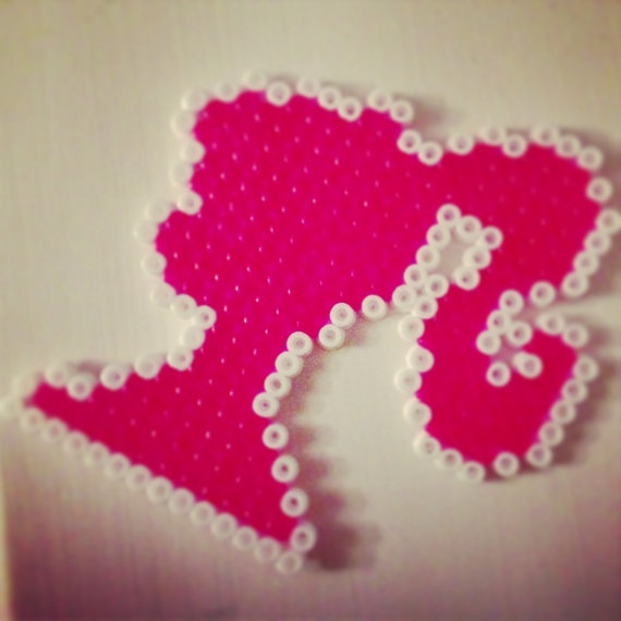 Barbie Hama perler Necklace by CornucopiaClothing