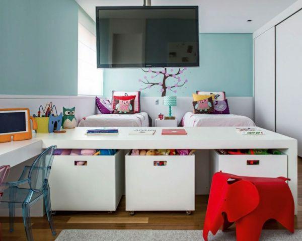 Kinderzimmer gestalten tolles kinderzimmer f r zwei m dchen for Wohnzimmer 4 x 10