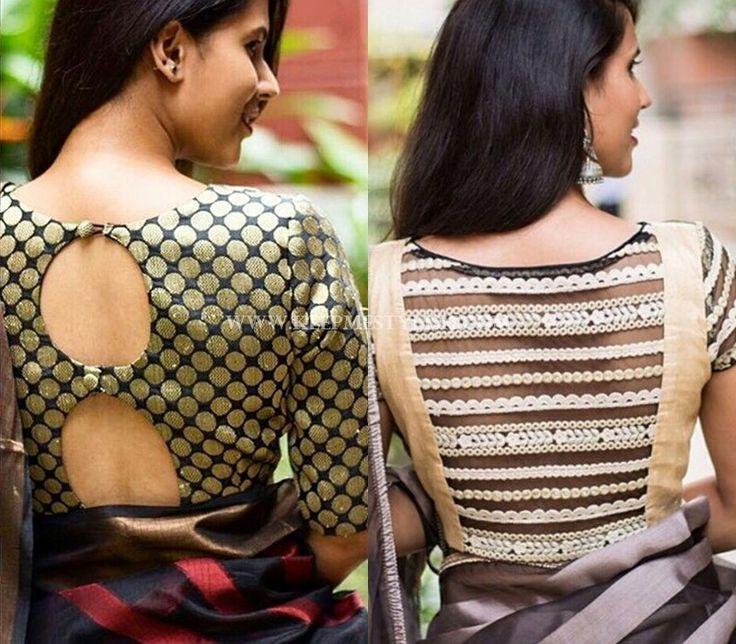 back open saree jacket designs
