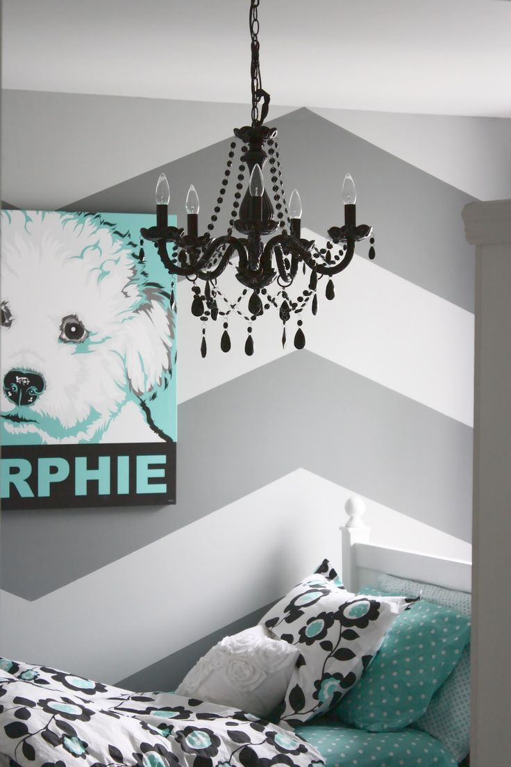 Diy bedroom wall painting ideas - Herringbone Chevron Wall Love The Chandelier Bedding Etc For Tween Teen Girl Room Herringbone Chevron Wall Love The Chandelier Bedding Etc For
