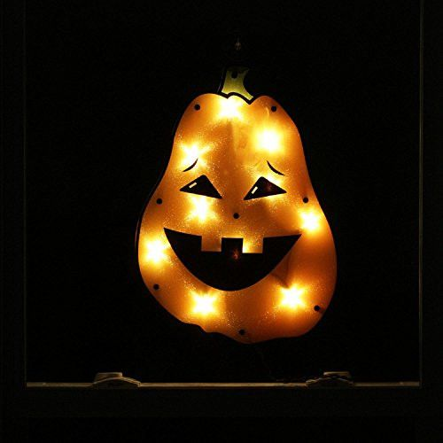Felices Pascuas Collection 17 inch Lighted Tall Jack-o-lantern Pumpkin Halloween Window Silhouette Decoration