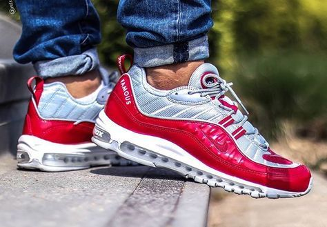 Supreme x Nike Air Max 98 Red Leather Patent - @estsince85 (1)