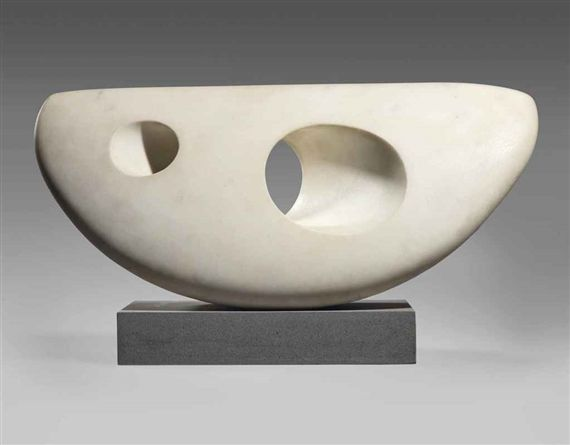 Barbara Hepworth - Curved Form; Creation Date: 1950 - 1954; Medium: white serravezza marble; Dimensions: Width: 19.5 in (Width: 49.53 cm)