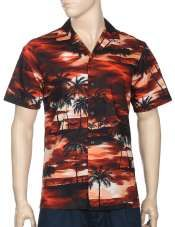 Cool Island Sunset Paradise Men's Shirts