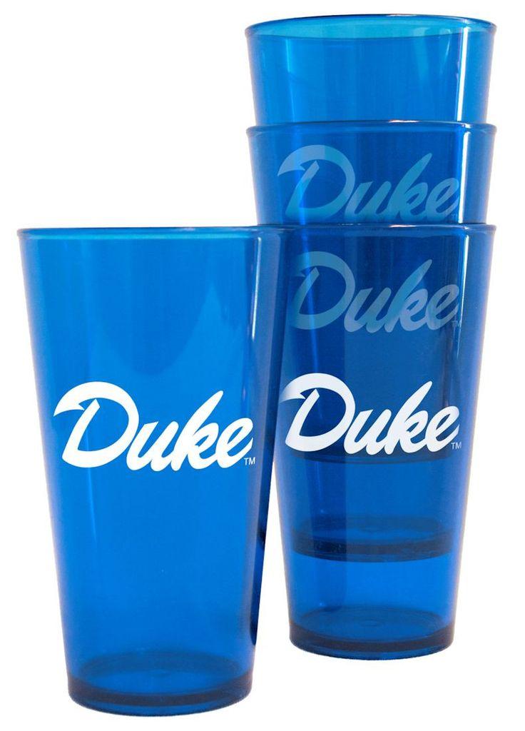 Duke Blue Devils Plastic Pint Glass Set