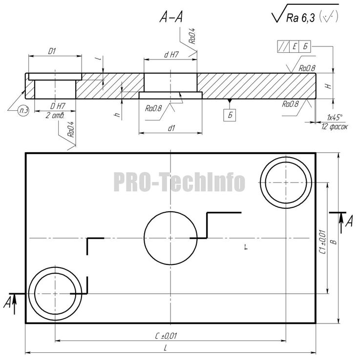 Неуказанные предельные отклонения размеров Н14, h14, ±It14/2. Материал — Ст.3 ГОСТ 380-05 Маркировать обозначение по таблице Пример обозначения плиты нижней с размерами L=320 мм, В=200 мм, d=62 мм: Плита 1022-5037 СТПИМ 71-74 3D-модель Чертеж Обозначение L, мм B, мм…Читать дальше Плиты верхние штамповые с 2 колонками ›