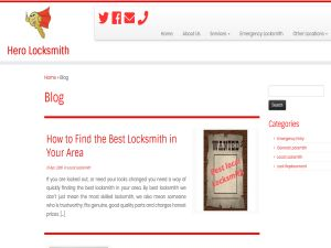 The Hero Locksmith Blog provides information about latest work as well as helpful articles to help people understand the kind of work that we do and why it is important to choose a local and knowledgeable locksmith.