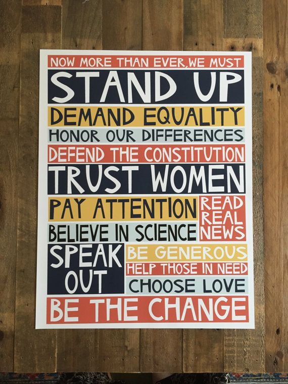 ::: UPDATE: Vielen Dank für alle Ihre Bestellungen! Because of you war ich in der Lage, einige bedeutende Beiträge zur Kämpfe des guten Kampfes, u. a. das Southern Poverty Law Center, Planned Parenthood, die ACLU, 350.org, Emerge und The Standing Rock Legal Fund, non-Profit zu machen. :::  Das ist meine Liste 2017 Absichten (Na ja, es gibt mehr, aber diese sind, was ich auf einem Print passen könnte. Es gibt so viel, was wir tun müssen!) Erhältlich in zwei Größen, eine Archivierung (Giclée)…