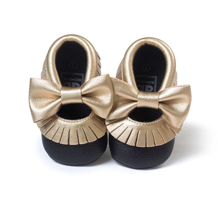 10 modèles!! 2016 Nouvelle Arrivée À La Main Fond Mou Mode Glands Bébé Fille Chaussures Mocassin, Nouveau-Né PU en cuir première Marcheurs (0-18 M)