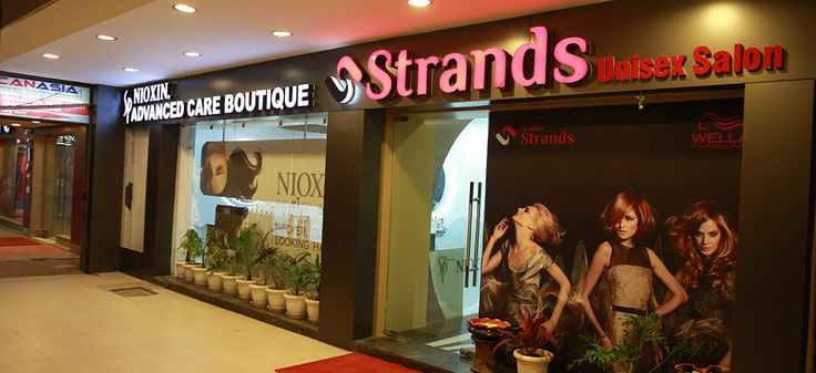 http://www.strands.in/  Best unisex salon n spa chain, having pan India presence. A premium destination for beauty services, hair treatment, bridal makeup, day spa, Nioxin Treatment, nail extension and much more, a warm welcome and superb service