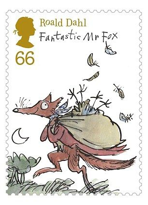 Royal Mails new set of stamps celebrating the work of Roald Dahl, illustrated by Quentin Blake. I want these!