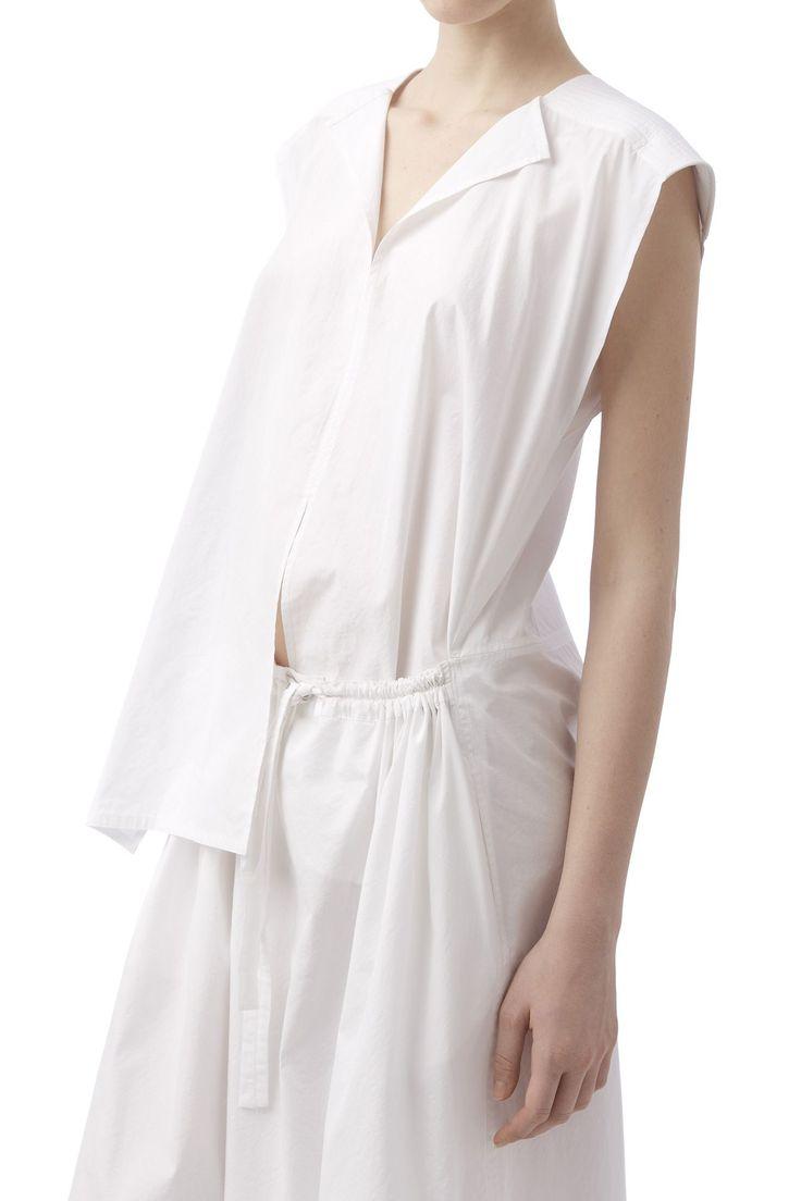 Off white dress with an open waistline | Nehera.com