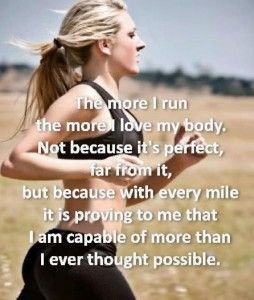 the more I run