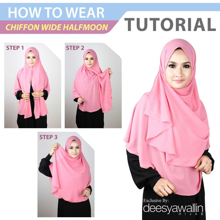 Tutorial Chiffon Wide Halfmoon   Facebook: Closet Heart Official  Instagram: Closet Heart