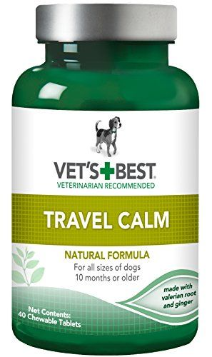 Vet's Best Relaxed Dog Travel Calm Formula Chewable Tablets, 40 Count >>> Click on the image for additional details.