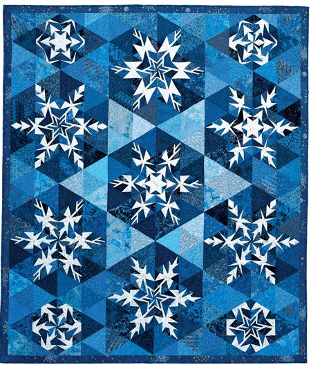 Love this Snowflakes quilt from Quiltmaker Nov/Dec '03, also available as a stand-alone pattern