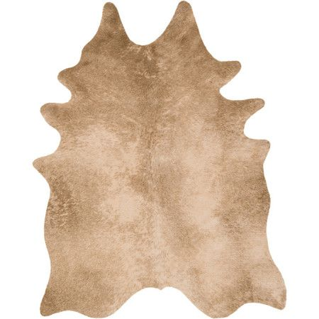 a lovely way to define space by the fireplace this faux animal hide rug adds