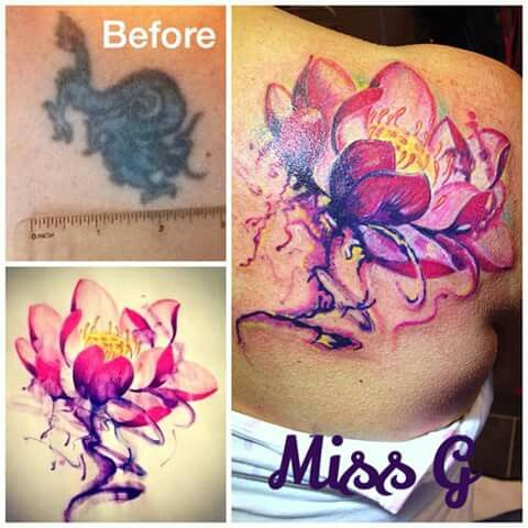 Watercolour lotus flower cover up