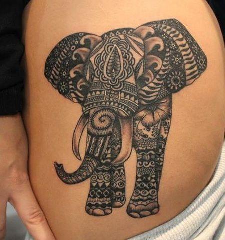 bold black mandala elephant tattoo tattoosbasket pinterest mandala elephant elephant. Black Bedroom Furniture Sets. Home Design Ideas