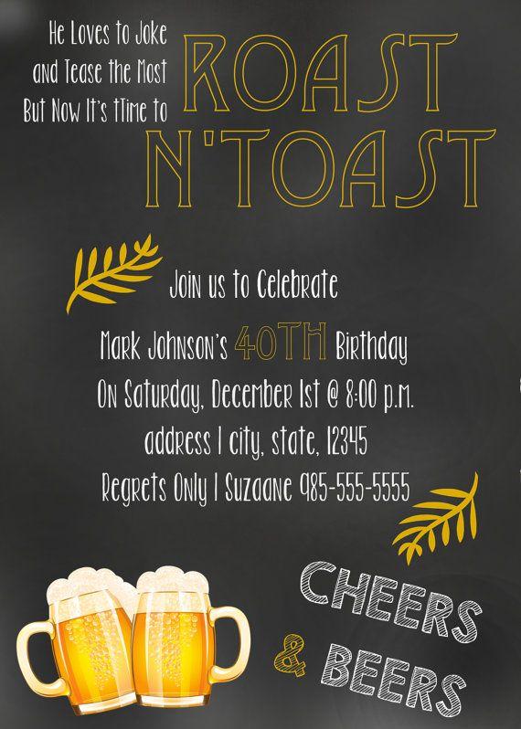 Best 12 deshano 40 images on pinterest birthday party ideas items similar to roast n toast invitation stopboris Images