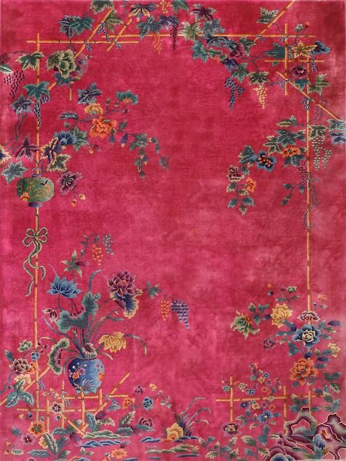 """I believe everyone needs a Chinese - Art Deco Rug in their home! 11'  0""""  x  8'  8"""""""