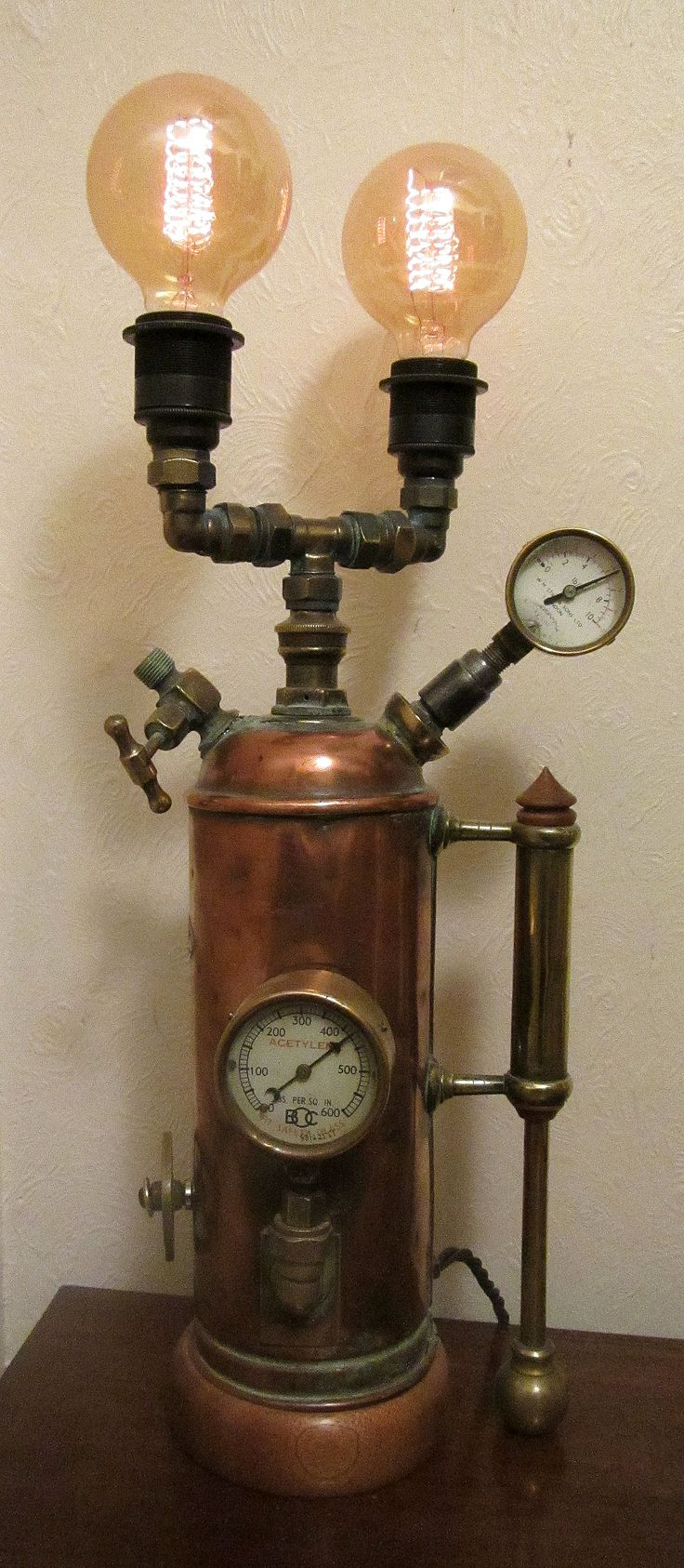 Steampunk lamp by John Grimshaw.