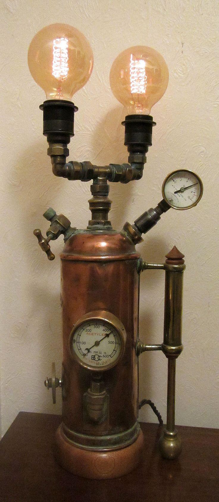 Steampunk lamp by John Grimshaw.