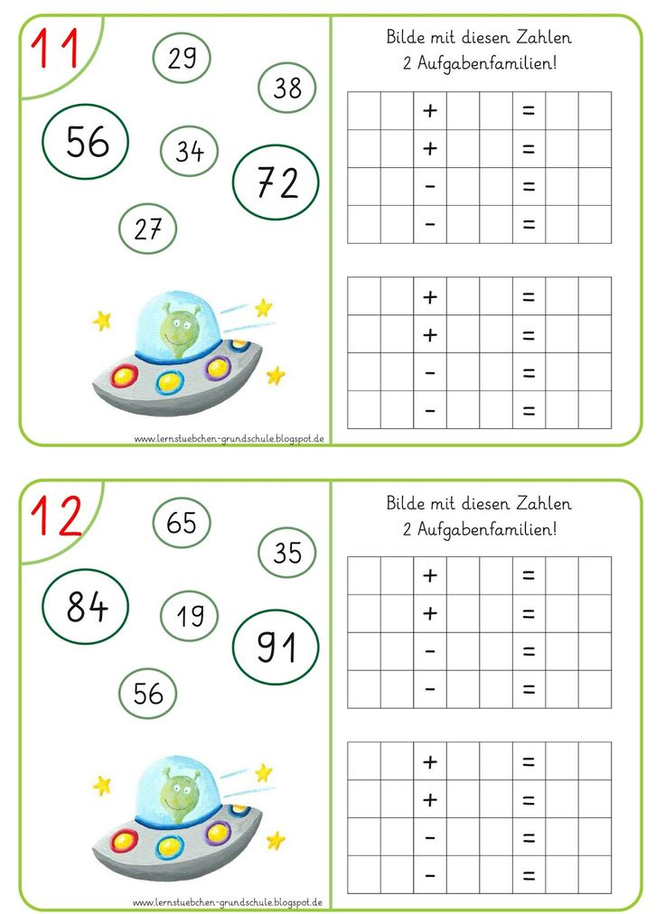 Lernstübchen: Aufgabenfamilien (5)