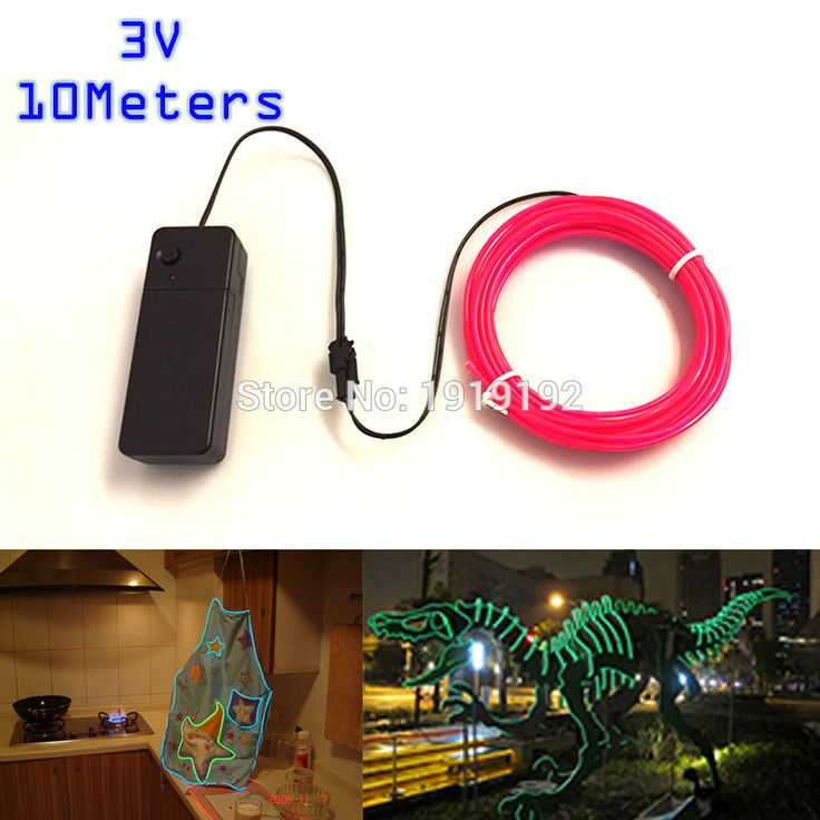 10Metres Wholesale Car Flexible Neon Light 2.3mm 10 Colors EL Wire For Stairs Channel  Sign glowing props Party Decoration