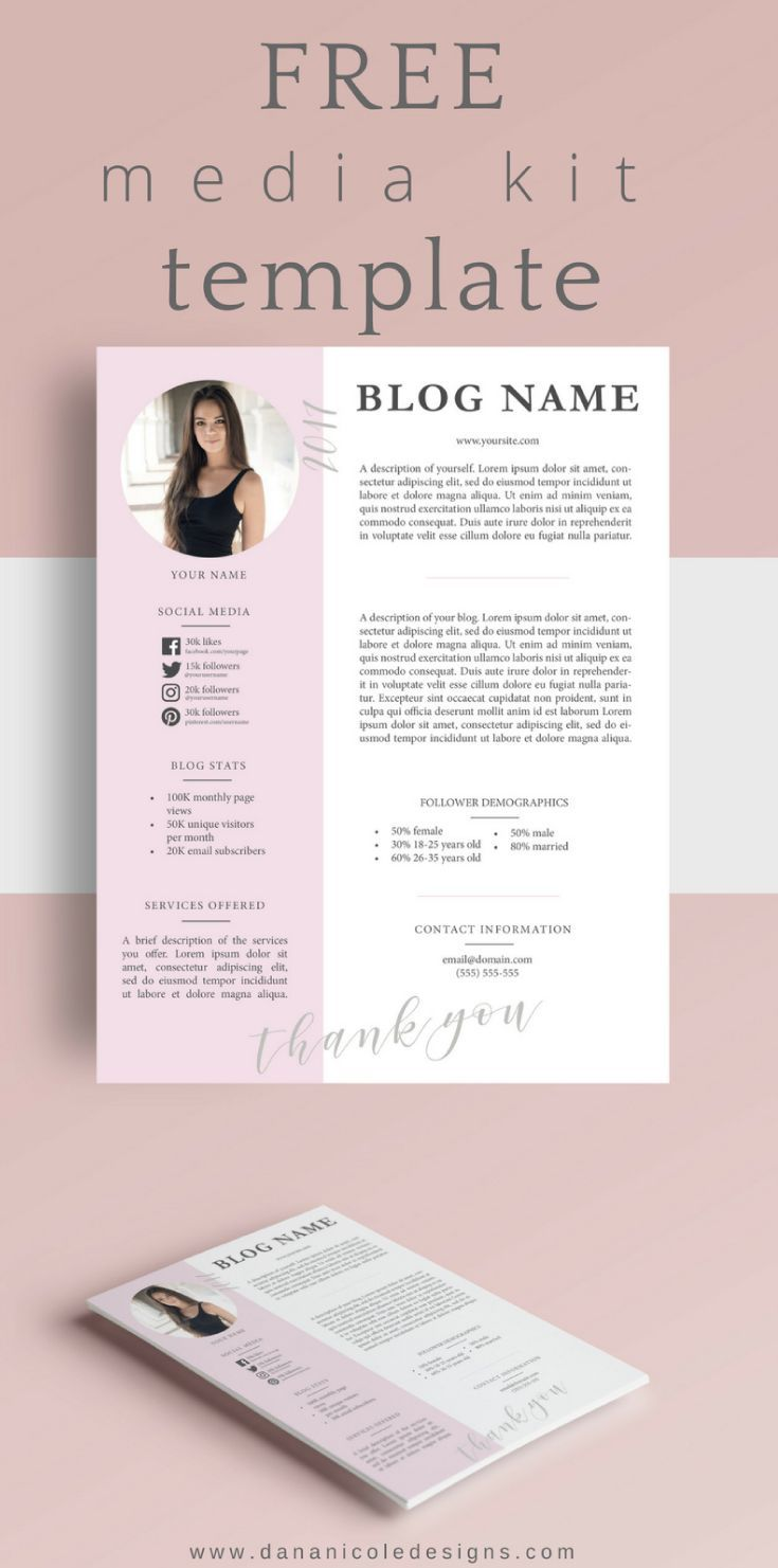 FREE Media Kit | Blogger Media Kit | Blogger Resources | Having a media kit is essentially a resume for you, your blog and your social platforms. As a blogger, if you are serious about working with brands you will want to have a professional-looking media