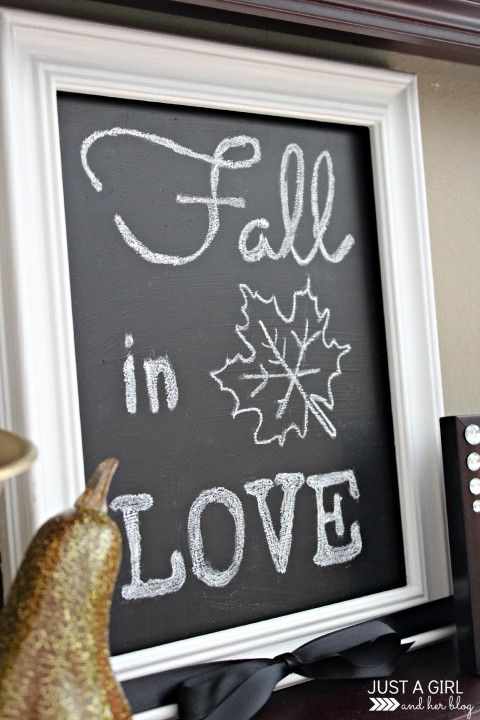 DIY Fall Chalkboard Art