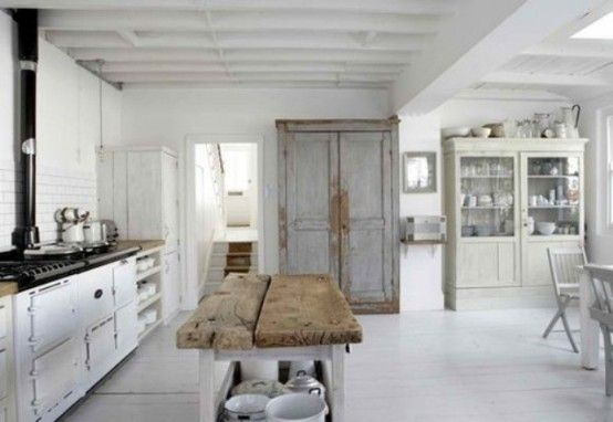 Wonderful 33 Rustic Scandinavian Kitchen Designs : 33 Rustic Scandinavian Kitchen Designs With White Kitchen Wall Table Stove Oven Sink Cabinet Storage Dining Table Bar Stool Window Appliances And Hardwood Floor