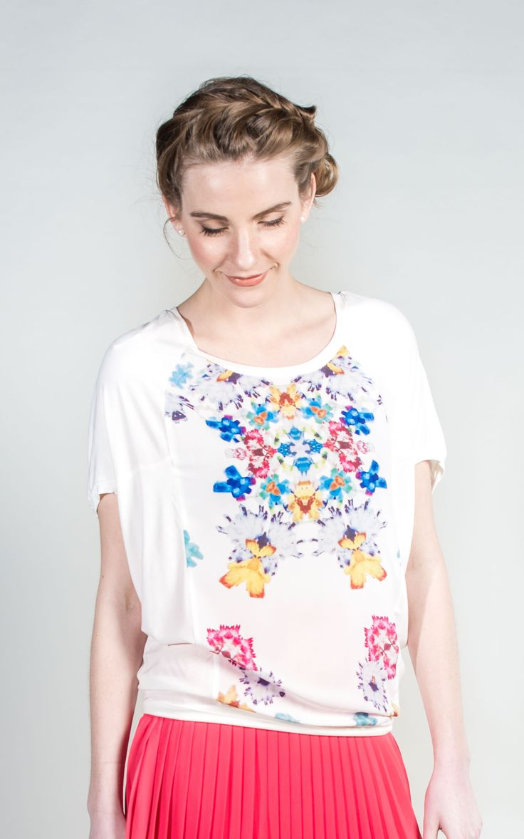 Silky Floral Print Top  launching soon  #Tops #Blouses #Spring #WantHerDress