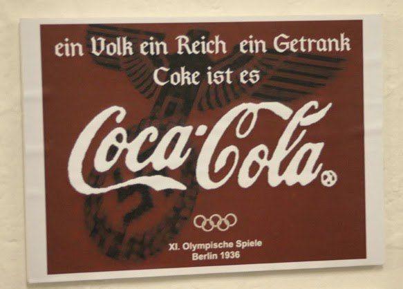 Anuncio de coca cola durante los juegos olimpicos de alemania 1936