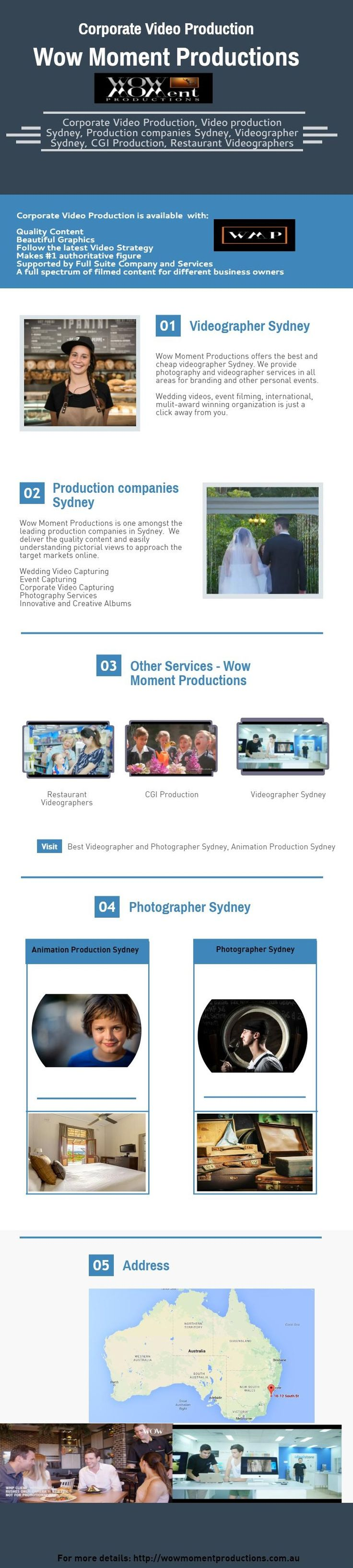 Approach us right now for the best corporate video production in Sydney at Wow Moment Productions.