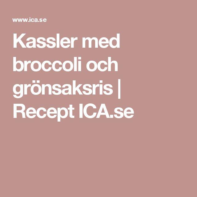 Kassler med broccoli och grönsaksris | Recept ICA.se