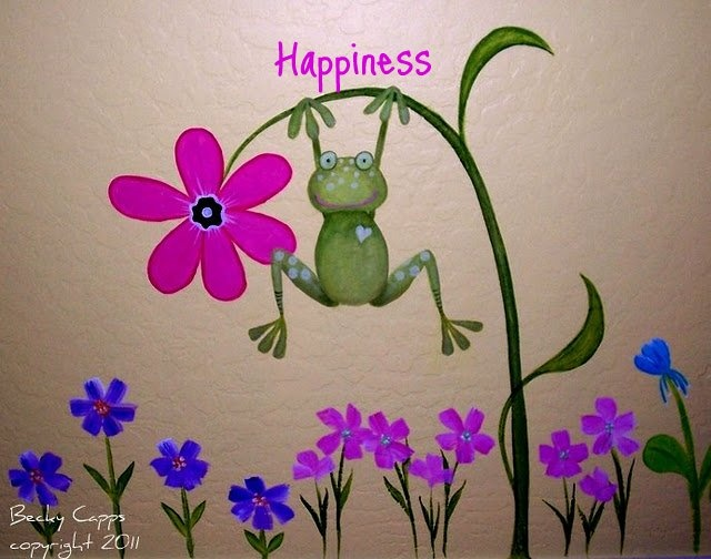 Happiness is a frog painted on your wall