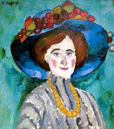 Илья Машков «Илья Машков «Дама в шляпе» 1909 г. Холст, масло. Частная коллекция