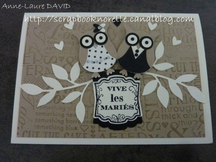 carte mariage chouette