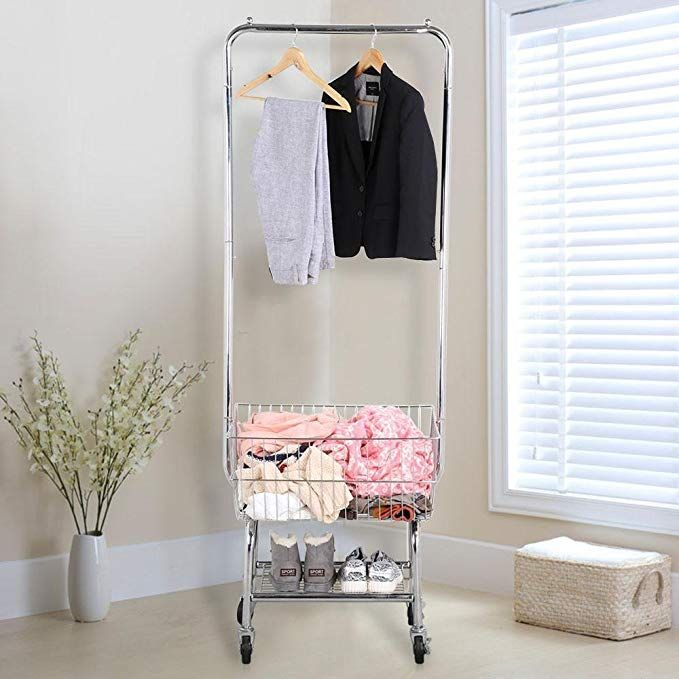 Yaheetech Commercial Laundry Cart Laundry Butler With Wheels