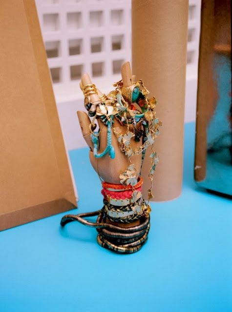 What a stunning, funky way to store/display jewelry. Habitually Chic®