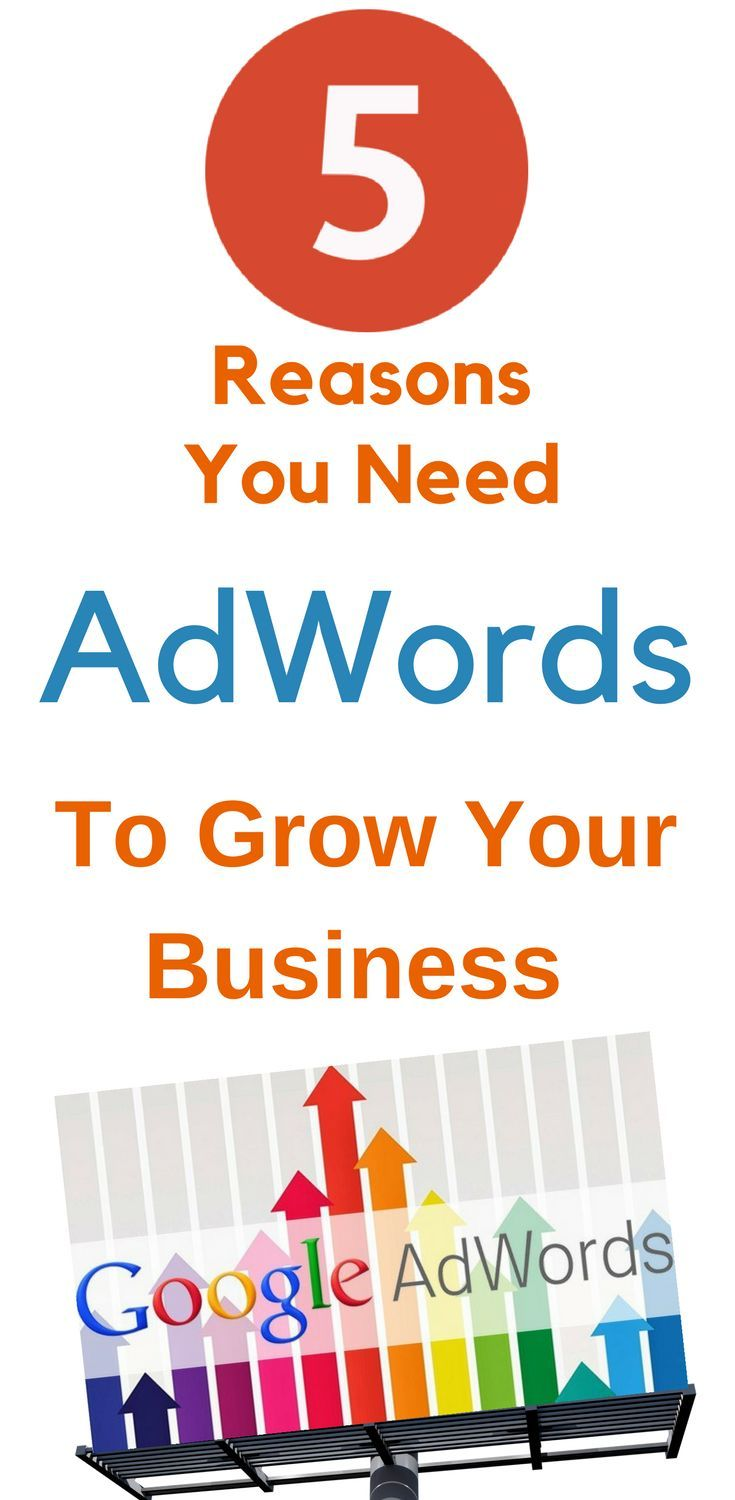 5 Reasons You Need Google AdWords To Grow Your Business  Google AdWords Business Success? Every small business owner knows that having a great #website is not enough in today's competitive digital #economy. Can Google #AdWords help your #business #success? Learn More...