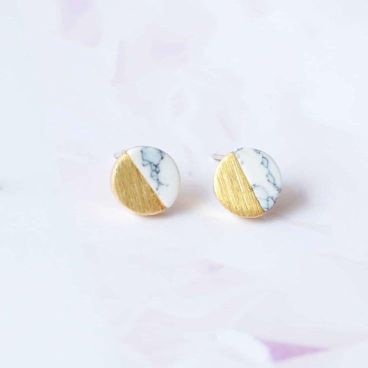 Pleine Lune White Gold Earrings
