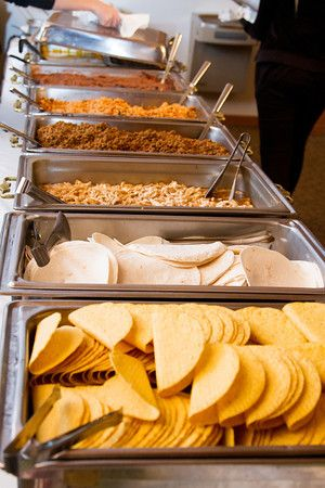 One bride had a fully stocked taco buffet!