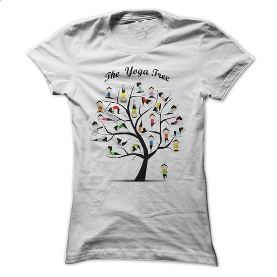 Womens T-shirt - Yoga Tree Pose - #awesome hoodies #navy sweatshirt. GET YOURS…