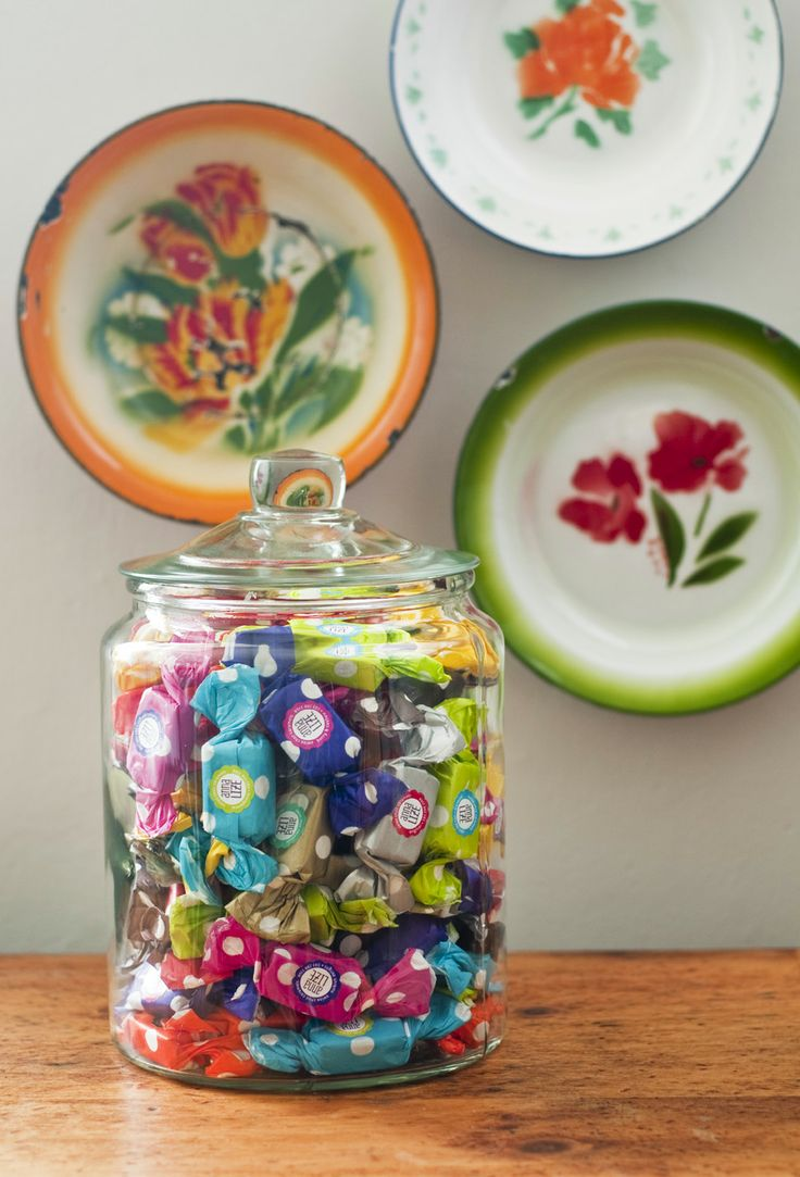 Simple and elegant, glass jar filled with delightful colour! www.anna-lize.co.za