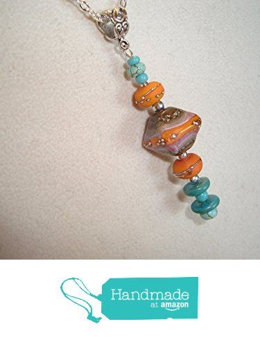 artisan lampwork beads with turquoise bead pendant necklace bu from http
