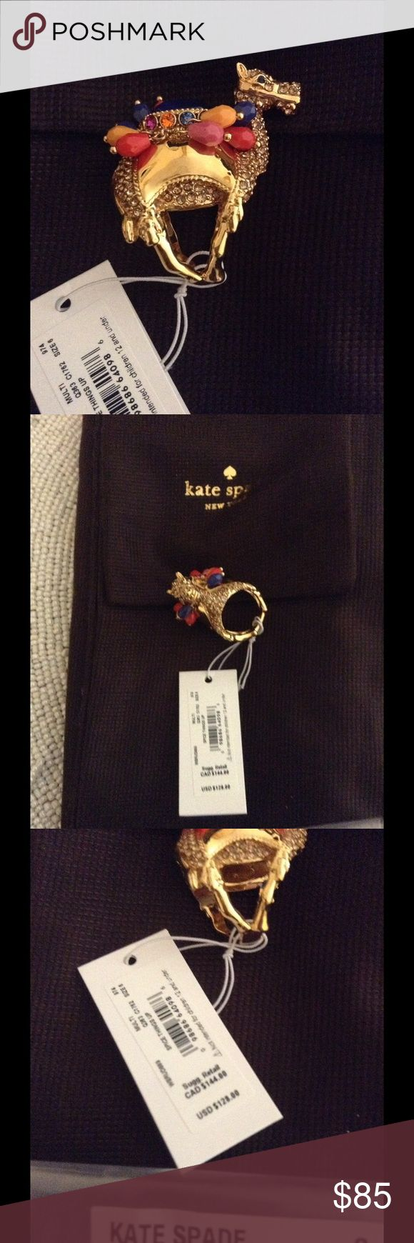 Kate Spade Camel Spice Things Up ring size 6 Brand new in original factory packaging ring in a size 6 from Kate Spade. It is guaranteed authentic with all original tags retailing for $128. Smoke free home comes with everything shown and in a gift box. kate spade Jewelry Rings